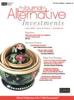 Journal of Alternative Investments cover