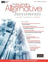The Journal of Alternative Investments: 20 (1)