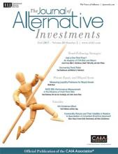 The Journal of Alternative Investments: 20 (2)