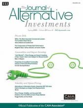 The Journal of Alternative Investments: 20 (4)