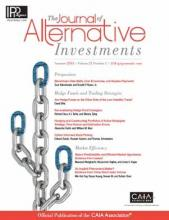 The Journal of Alternative Investments: 21 (1)