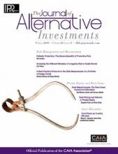 The Journal of Alternative Investments: 21 (3)