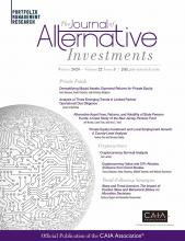 The Journal of Alternative Investments: 22 (3)