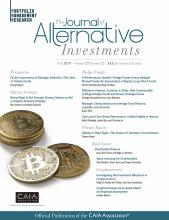 The Journal of Alternative Investments: 23 (2)