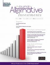 The Journal of Alternative Investments: 23 (3)