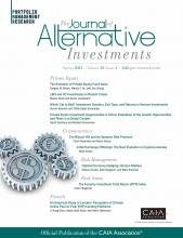 The Journal of Alternative Investments: 23 (4)