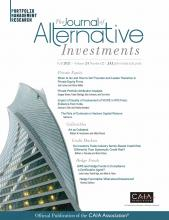 The Journal of Alternative Investments: 24 (2)